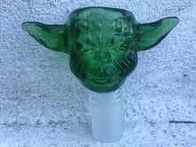 Thick Glass 18mm Male Green Yoda Head Herb Bowl