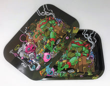 Collectible Metal Rolling Tray w/Magnetic Cover Ninja Turtle Design