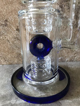 "Thick Glass 14"" Rig 9 ice catchers double Shower perc. Quartz Banger Dab Tool"