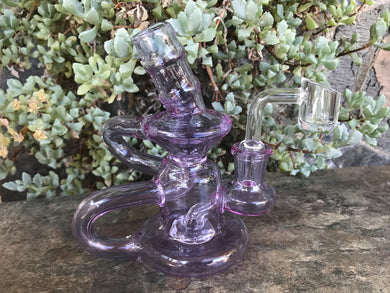 Thick Violet Glass Double Recycler 5