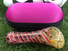 "Thick Glass 4"" Best Standing Hammer Zipper Padded Hard Case Pouch - Volo Smoke and Vape"