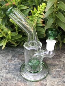 "6"" Shower Perc. Glass Water Rig 14mm Here Bowl"