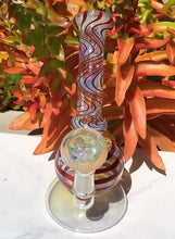 "7"" Thick Fumed Glass Water Rig Bong with 14mm Female Fumed Glass Slide Bowl"