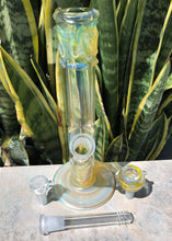 "Straight Bong 10"" Thick Fumed Glass Water Smoking Pipe ICE catcher 2 Slide Bowls"