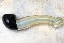 "6"" Sherlock Thick Fumed Glass Spoon Hand Pipe Black Bowl"