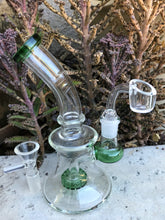 "Perfect 7"" Glass Water Shower Rig Quartz Bucket Herb Bowl - Volo Smoke and Vape"
