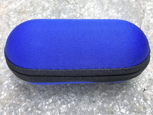 "Blue 5"" Padded Pouch Hard Case Protective For Glass Pipe Storage Zipper Travel - Volo Smoke and Vape"