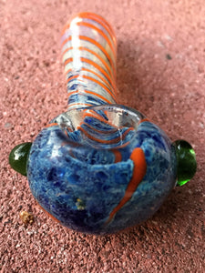 "4"" Glass Handmade Hand Pipe Fumed Glass Handle - Volo Smoke and Vape"