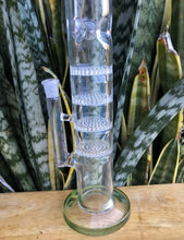 "16"" Straight Thick Glass Rig 4 Honey Combs Ice Catchers 2 Bowls Grinder"