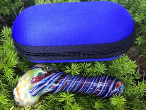 "Best 4"" thick Glass Standing Hammer Zipper Padded Hard Case Pouch - Volo Smoke and Vape"