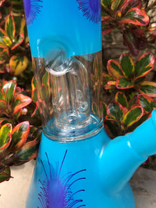 "8"" Glass Beaker Dome Perc. Water Bong Pipe ice Cather Slide in Stem with Bowl"