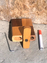 "4"" Natural Wood Stash Box Dugout with Aluminum Bat & Cleaning Tool"