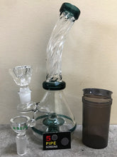 "High Quality 8"" Glass Water Rig Shower Perc 3.5"" Hand Pipe 2 Herb Bowls Screens - Volo Smoke and Vape"
