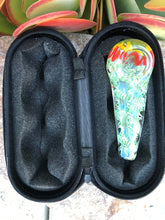 "Thick Glass Cone Shape Best 4"" Spoon Hand Pipe Zipper Padded Hard Case Pouch - Volo Smoke and Vape"