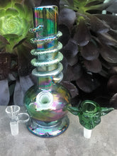 "8"" Thick Soft Glass Bong w/ Glass Character Piece"