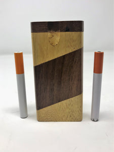 Two Tone Wood Best Wooden Dugout Set with 2 Free One Hitters - Volo Smoke and Vape