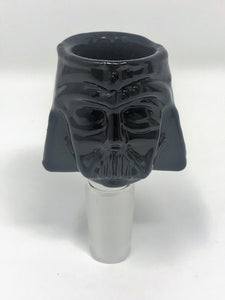 Best All Black Silicone Straight Bong Detachable Mouth Piece Darth Vader Bowl