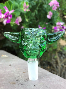 14mm Star Wars Yoda Glass Bowl - Green - Volo Smoke and Vape