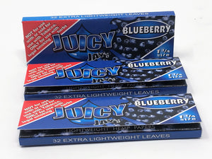 "Blueberry JUICY JAY'S - 1 1/4"" Cigarette Rolling Papers (3 Packs)"