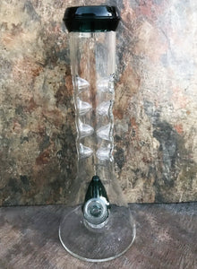 "9.5"" Perc & 8 Ice Catchers Glass Bong/Water Pipe + 2 - 14mm Male Bowl Sliders"