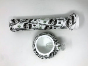 "NEW! 13"" Paper Money Silicone Detachable Bong Silicone Hand Pipe Slide Bowl"