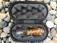 "3"" One Hitter Glass Chillum Hand Pipe w/Zipper Padded Pouch- Brown"