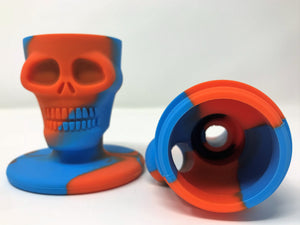 "Best! 8.5"" Silicone Skull Head Portable Bong, Container & One Hit (Colors Vary) - Volo Smoke and Vape"