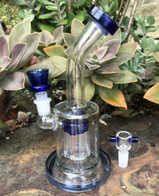 "8"" Best, Thick Glass, 8 Arm Tree Percolator with 2 -14mm Male Slide Bowls - Darkest Blue"
