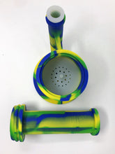 "10"" Detachable Silicone Water Bong Green Diamond Bowl + Extra Bowl - Volo Smoke and Vape"