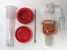 "New Fiery Red 14"" Detachable Silicone Best Bong Quartz Bucket + Extras!"