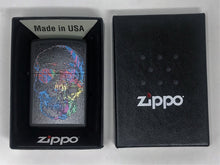 Zippo Lighter - Black Matte Skull Design