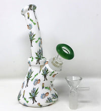 "Collectible 6.5"" Detachable Silicone Unbreakable Beaker R&M Bong 2 - Slide Bowls"
