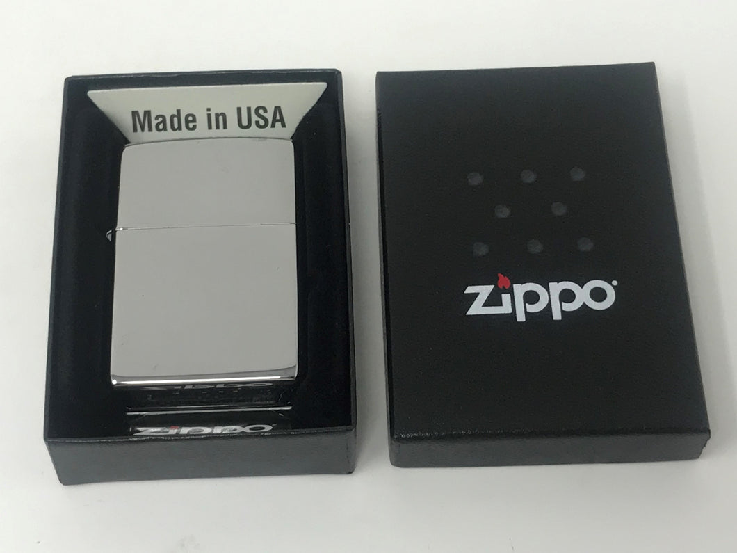 Zippo Lighter - High Polished Sterling Silver
