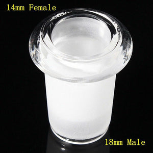 NEW| 18mm Male to 14mm Female Glass Adapter Reducing Joint
