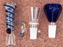 "Beaker Bottom 8"" Best Shower Water Bong 2 Bowls Star Glass Screens Glass Bat - Volo Smoke and Vape"