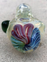"5"" Handmade Fumed Glass Hand Pipe Notched Glass Handle Zipper Padded Hard Case - Volo Smoke and Vape"