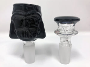 "New 10"" Detachable Silicone Water Bong Darth Vader Thick Glass Bowl w/extra bowl"