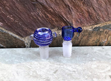 "Awesome! Thick Glass 5 Shower Percolators 9"" Rig 2 - 18mm Bowl - Dk Blu"