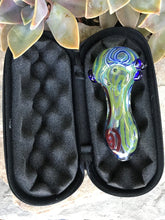 "4"" Best Unique Thick Glass Handmade Hand Pipe Zipper Padded Hard Case Pouch - Volo Smoke and Vape"