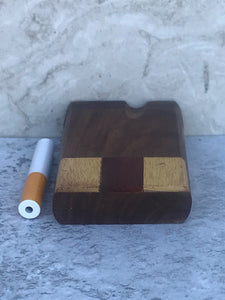 "3"" Decorative Wood Stash Box with Swivel Top - Includes Metal Rod"