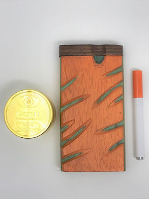 Hand Carved Wooden Dugout w/Metal Bat + FREE Grinder - Volo Smoke and Vape