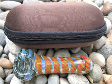 "Spoon Hand Pipe 3.5"" Fumed Glass Zipper Padded Hard Case"