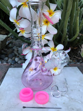 "Pink Delight 8"" Glass Best Water Bong Quartz Bucket Tool Silicone Cont Herb Bowl - Volo Smoke and Vape"
