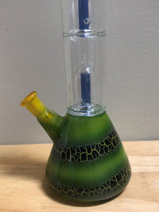 "12"" Beaker, Double Dome Perc, Glass Bong Slide Glass Stem w/Bowl attached Screens"
