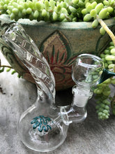 "Twisted Glass Bent Neck Best 5"" Bubbler Water Bong Herb Bowl Design & Color Vary - Volo Smoke and Vape"