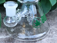 "6"" Beaker Water Rig/Pipe with Shower Perc & 14mm Male Yoda Man Bowl & Double Lip Green Bowl w/Screen"