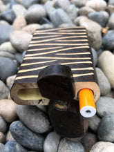 "Unique 4"" Hand Carved Wood Dugout with One-Hitter Aluminum Bat - Volo Smoke and Vape"