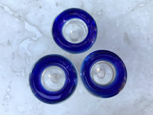 Best Thick Glass 18mm Male Blue Ring Herb Bowl (3 Pack) - Volo Smoke and Vape