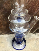 "16"" Thick Glass Double Shower Perc & Honeycomb Rig w/Ice Catchers &  2 - Bowls"