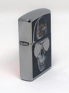 Harley-Davidson Edgy Skull Design Indoor Outdoor Windproof Zippo Lighter